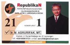 Master Teknik Sipil dari ITB ini menjadi Caleg Dapil Lamongan dan Gresik, Jawa Timur