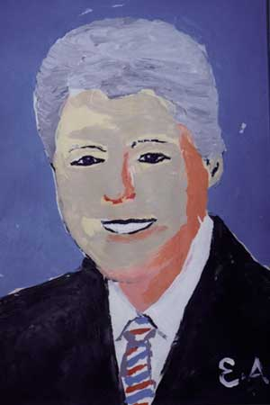 Bill Clinton karya Esref Armagan