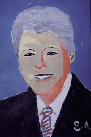 Bill Clinton karya Esref Armagan